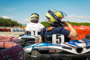 On the kart track