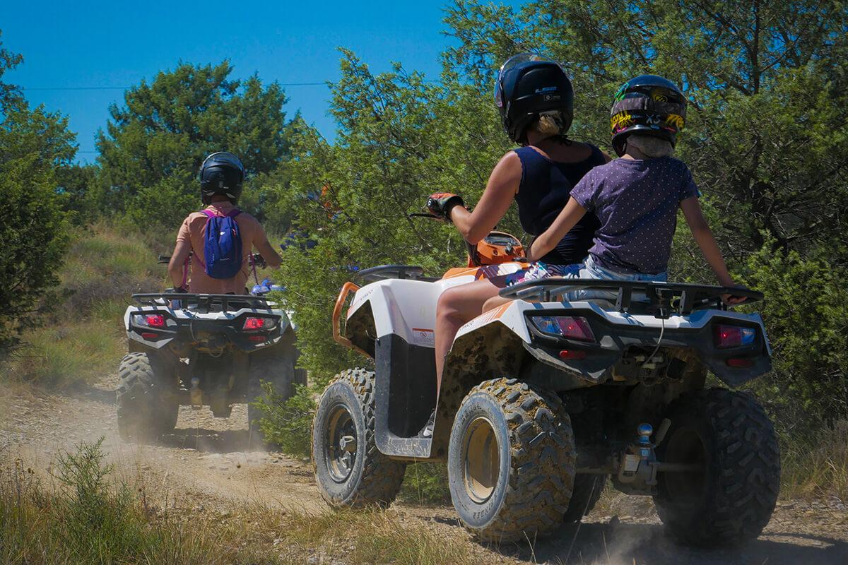 Teen ride in quad